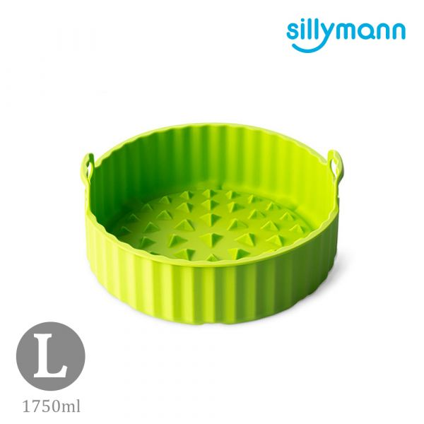 【韓國sillymann】 100%鉑金矽膠氣炸鍋烘烤籃L(綠)