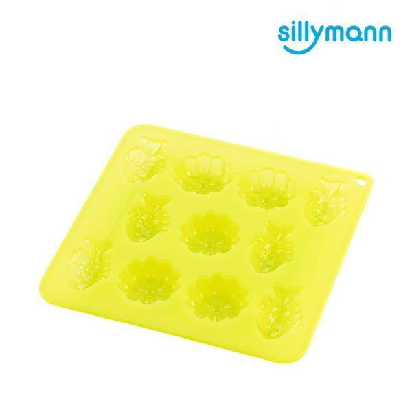 【韓國sillymann】100%鉑金矽膠餅乾/糕點烘焙模具(烤箱/氣炸鍋/微波爐/電鍋專用)(透明綠)