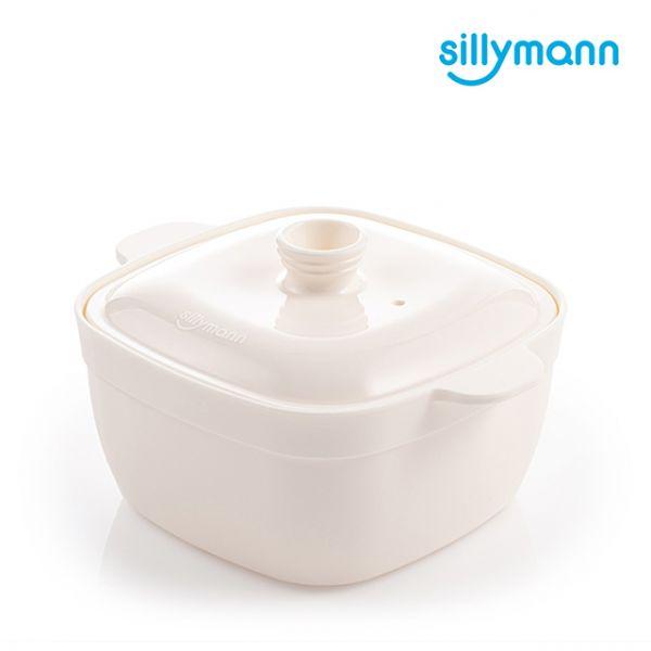 【韓國sillymann】100%鉑金矽膠方形蒸蛋鍋(電鍋/烤箱/氣炸鍋/微波爐專用)(奶油白)