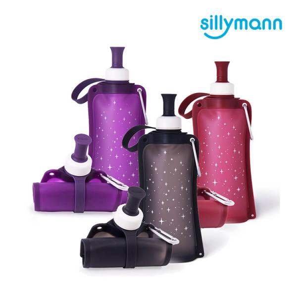 【韓國sillymann】 100%鉑金矽膠簡約便攜捲式鉑金矽膠水瓶-550ml