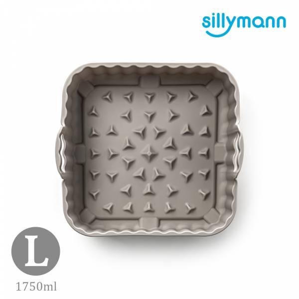 【韓國sillymann】100%鉑金矽膠氣炸鍋 烤箱方形烘烤籃(L)-1750ml(可可灰)