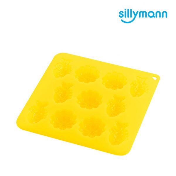 【韓國sillymann】100%鉑金矽膠餅乾/糕點烘焙模具(烤箱/氣炸鍋/微波爐/電鍋專用)(透明黃)