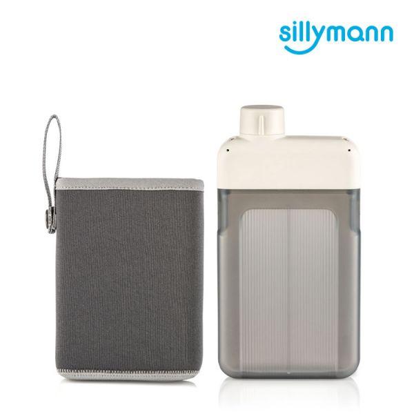 【韓國sillymann】 扁平時尚水壺-500ml(奶油白)