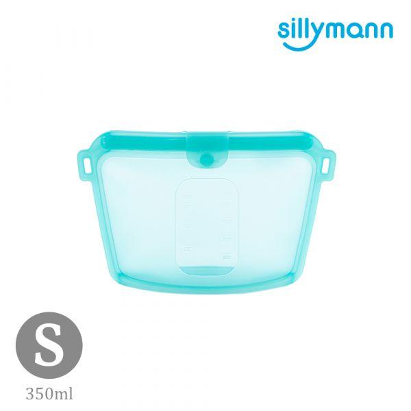 【韓國sillymann】 100%鉑金矽膠密封袋-350ml(藍)