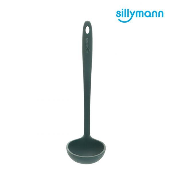 【韓國sillymann】 100%鉑金矽膠精品一體成型湯勺(海洋綠)