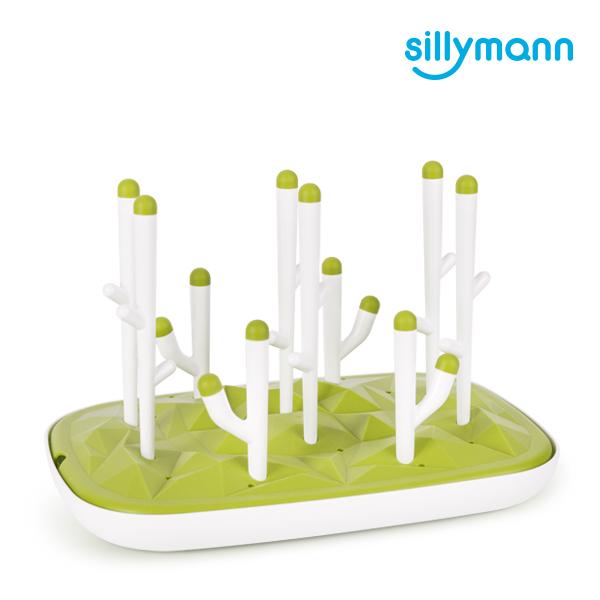 【韓國sillymann】 100%鉑金矽膠仙人掌奶瓶乾燥架