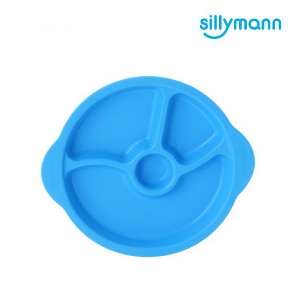 【韓國sillymann】 100%鉑金矽膠防滑幼兒學習餐盤(藍)