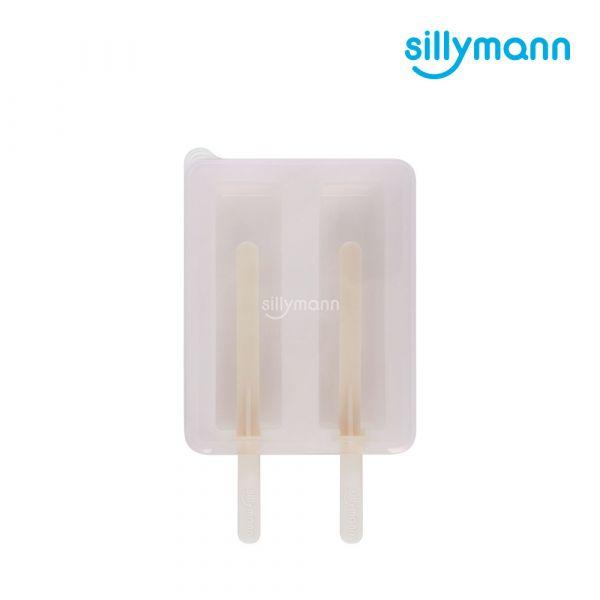 【韓國sillymann】 100%鉑金矽膠冰棒分裝盒(白)