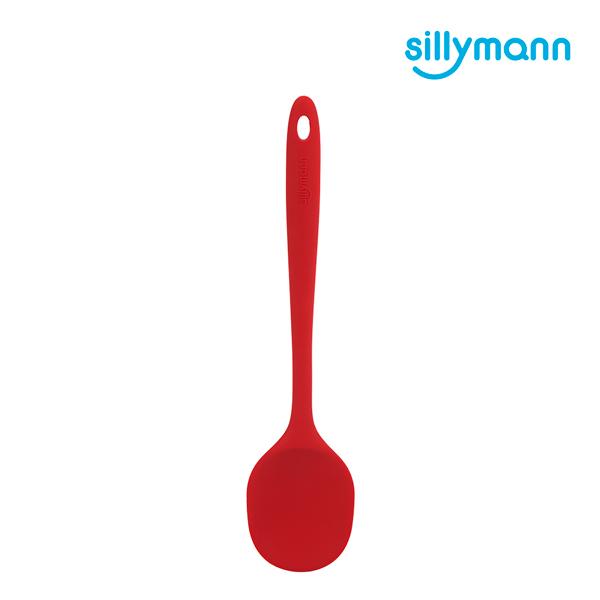 【韓國sillymann】 100%鉑金矽膠精品一體成型拌炒勺(紅)