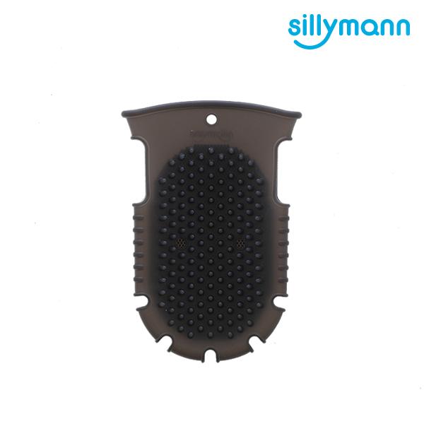 【韓國sillymann】 100%鉑金矽膠舒壓按摩洗澡刷(黑)