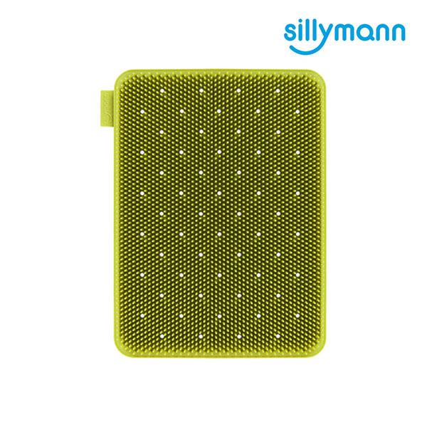 【韓國sillymann】100%鉑金矽膠蔬果水(奶)瓶餐具洗碗刷(綠)