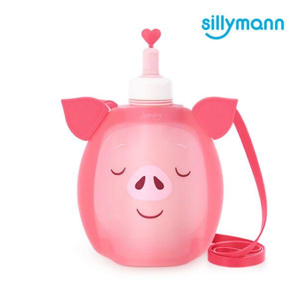【韓國sillymann】 100%鉑金矽膠小豬水袋-350ml
