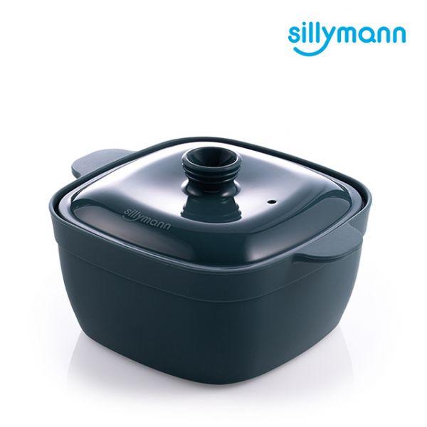 【韓國sillymann】100%鉑金矽膠方形蒸蛋鍋(電鍋/烤箱/氣炸鍋/微波爐專用)(海洋綠)
