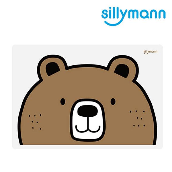 【韓國sillymann】 100%鉑金矽膠可愛寶貝兒童餐墊(熊) 吃飯好幫手