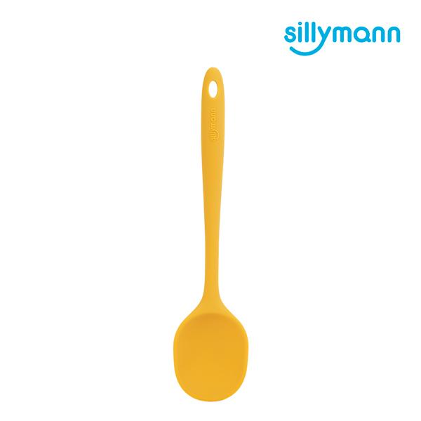 【韓國sillymann】 100%鉑金矽膠精品一體成型拌炒勺(黃)