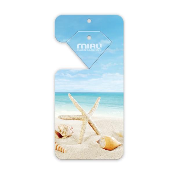MIAU奢華香氛香水吊卡(鼠尾草與海鹽)香味持續45天/適用於車上/浴廁/房間/除臭/空氣清新