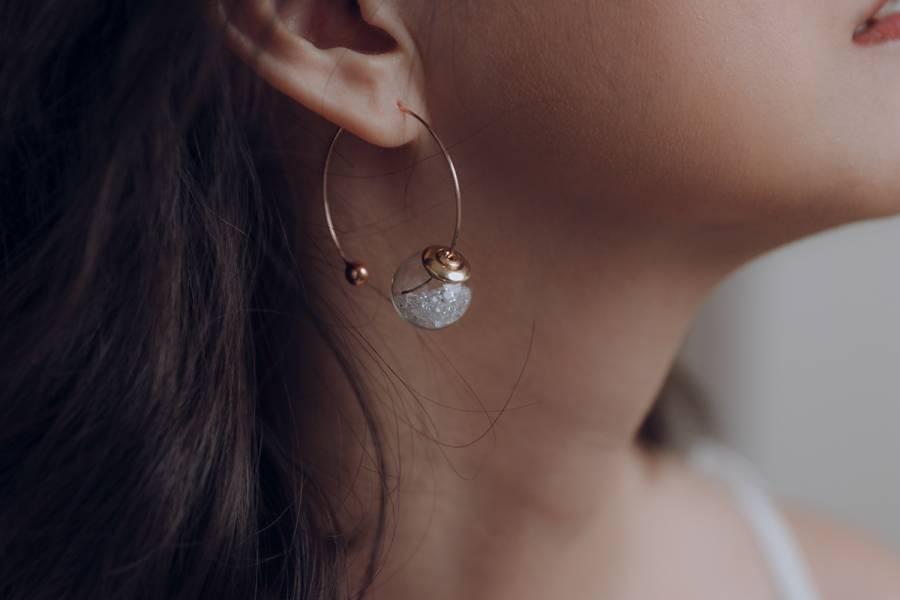 Big circle – clear bubble * geometric earrings  circle clear bubble geometric earrings