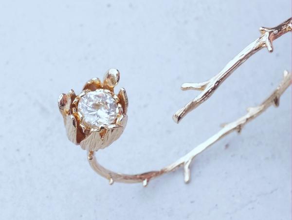 愛手環 - 二色 18K金色 荊棘 玫瑰 手環
