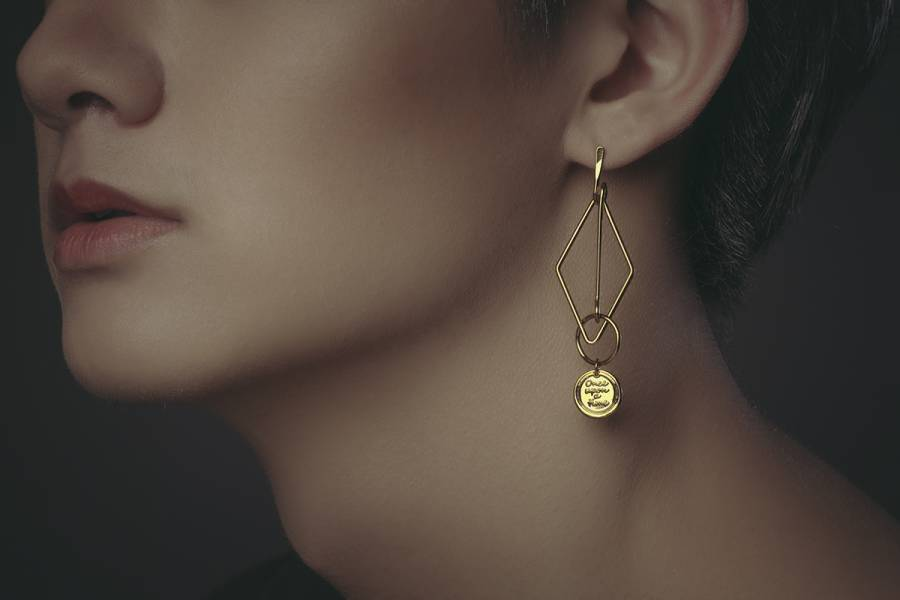 Alchemy Series – Conjunction * asymmetrical earrings Alchemy Series  Conjunction  asymmetrical earrings
