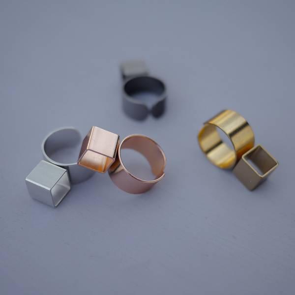 Telepathy | 讀心術系列 - 潛意識戒指 * 四色 ring 正方形 正方形飾品 個性戒指 幾何戒指 戒指 立體戒指 設計款戒指