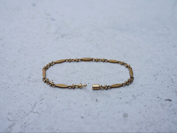 Twilight series- oval and ring and bead chain * bracelet brass  bracelet