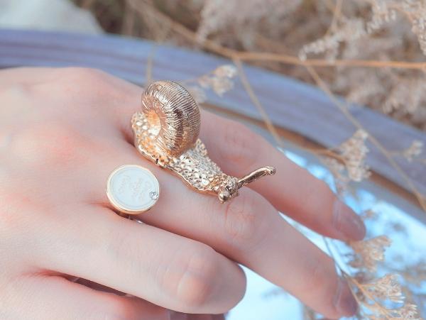 渺小戒指 金蝸牛 戒指