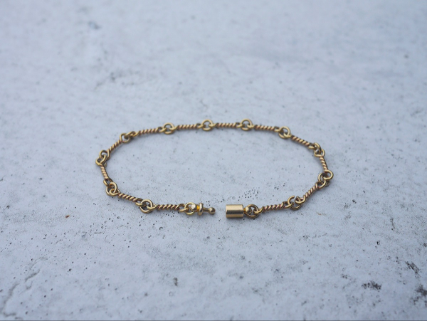 Twilight series- twisted bar link chain * bracelet brass bracelet