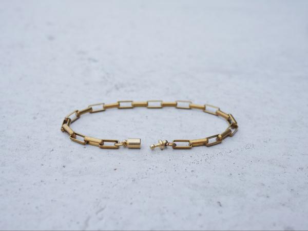 Twilight series- rectangle cable* bracelet brass bracelet