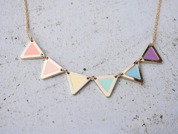 LGBT rainbow flag necklace- 2 colours to choose from LGBT rainbow flag necklace