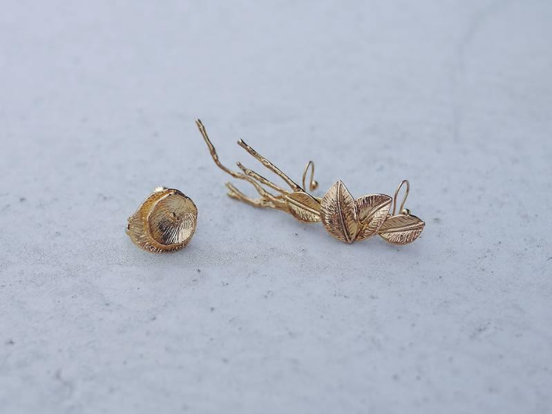 PURE Series – Fallen Branch * Fairy ear cuff 精靈耳式 新娘耳飾 蜻蜓 夜牽牛 森林系 秋天