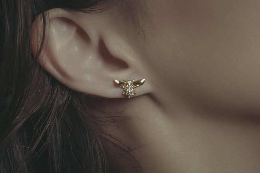 Hydromancy | Hydromancy – Tears of bee earrings * 2 colours  蜜蜂 昆蟲 鋯石 耳環
