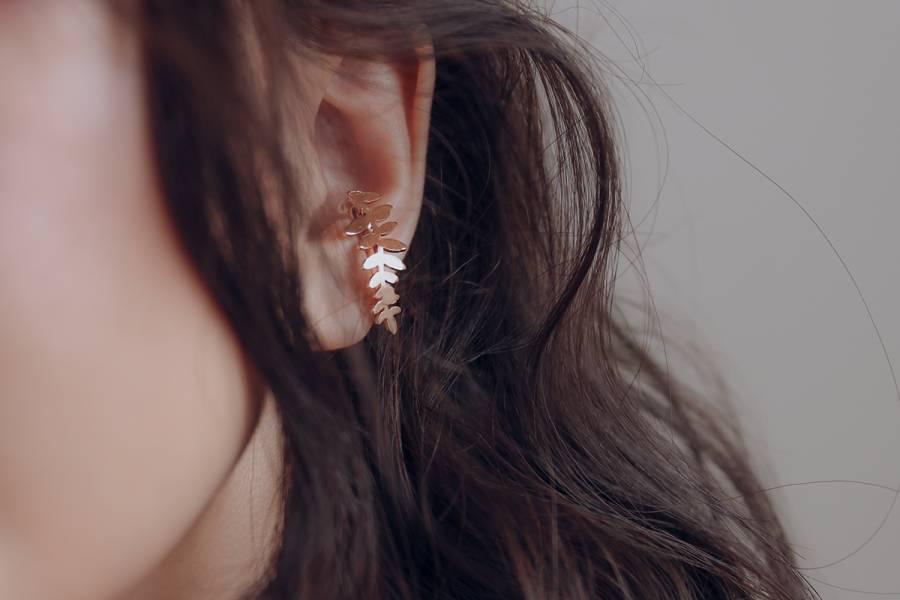 PURE系列 - 羽葉 三色 * Fairy ear cuff earring cuff