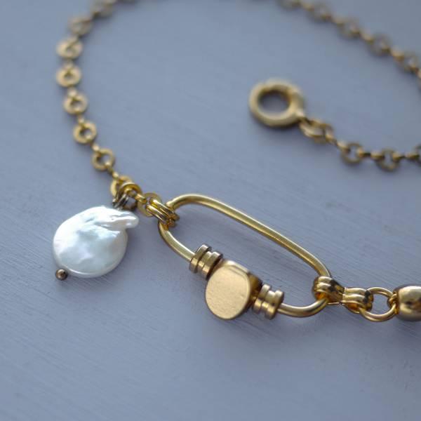 Hydromancy Series – Aura of the ocean * necklace  天然珍珠 短項鍊 巴洛克變形珠 項鍊 鎖骨鏈