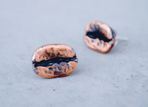 COFFEE BEAN earrings-3 colours to choose from COFFEE BEAN earring