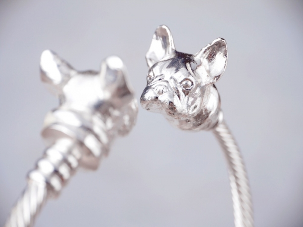 French bulldog X French bulldog bangle-2 colours to choose from French bulldog