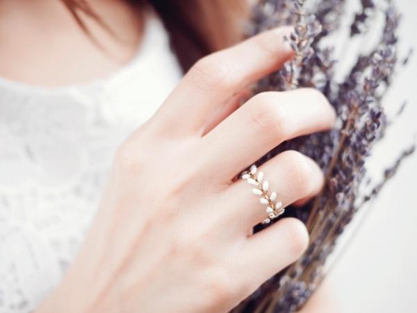 Mistletoe槲寄生戒指 - 二色 植物系 波西米亞風 戒指