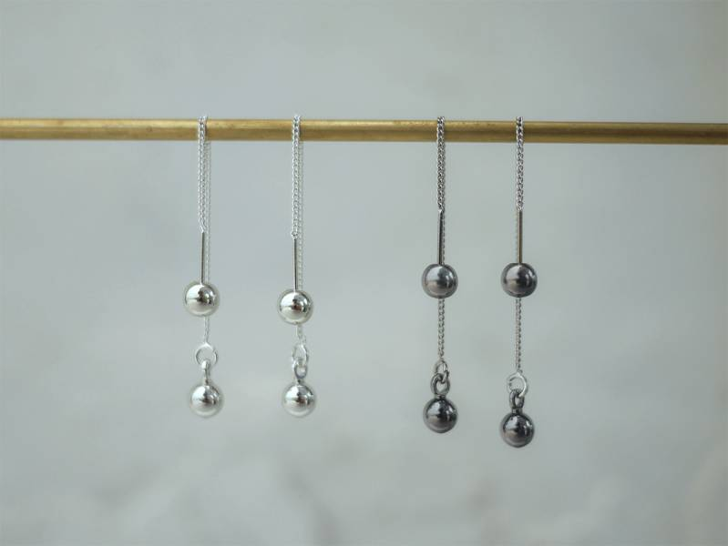 Alchemy Series – Circular microscale * Dangle chain earrings 2 colours to choose from