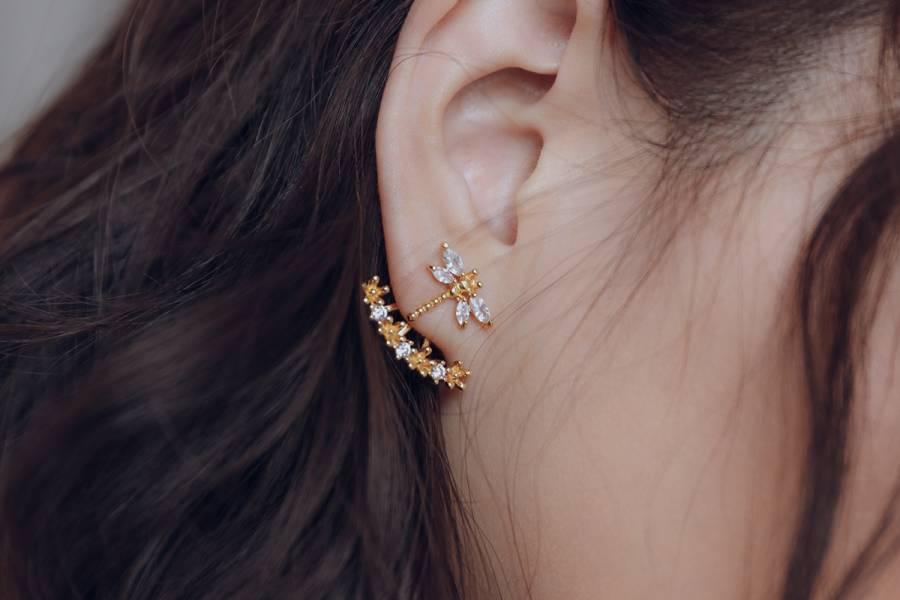 Pure系列 - 點水 * 耳環 蜻蜓 點水 後扣 設計耳環