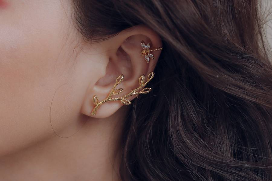 PURE Series – Late Autumn Fairy earring & ear cuff 精靈耳式 新娘耳飾