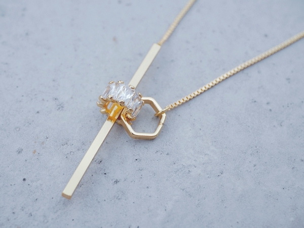 the radiance necklace Y shape necklace