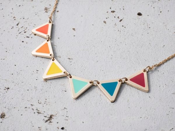 六色彩虹萬國旗項鍊 - 二色 婚姻平權 六色彩虹旗 項鍊