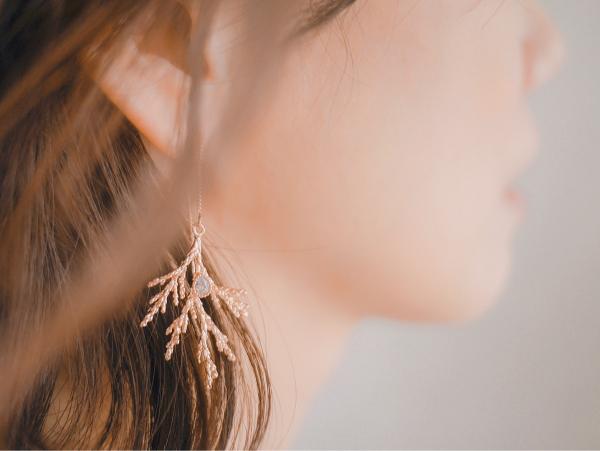 松果的秘密 * 不對稱耳環 松果 耳環