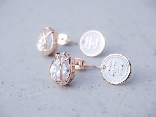 結晶耳環 - 六款 生命樹 鬱金香 三角 星星種子 翅膀 花環 結晶耳環