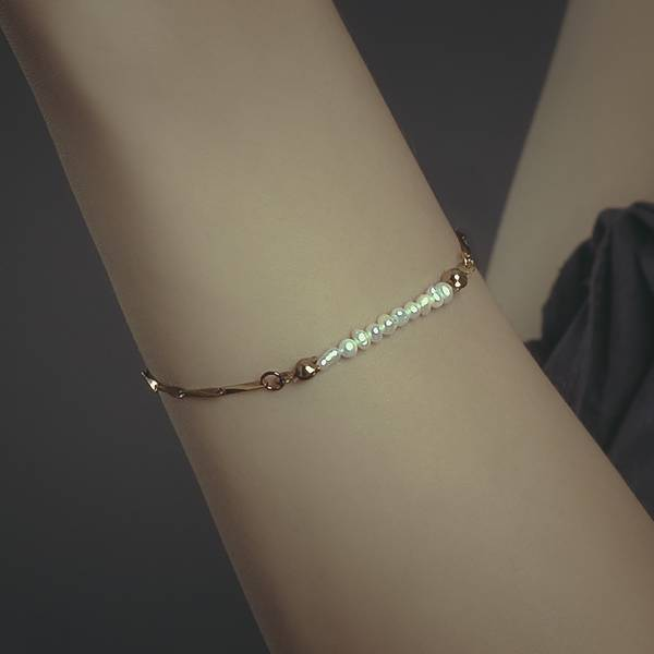 Hydromancy Series – Drizzle bracelet * 3 colours  天然珍珠 迷你珍珠 變形珍珠 細手鍊
