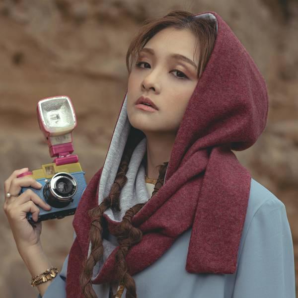 Memory 系列 - 窈窕淑女 My Fair Lady * 帽子圍巾 保暖 勃根地紅色 帽子 圍巾