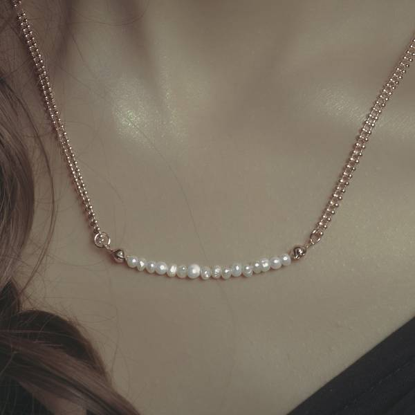 Hydromancy | 水占術系列 - 雨露項鍊 * 三色 天然珍珠 迷你珍珠 變形珍珠 短項鍊