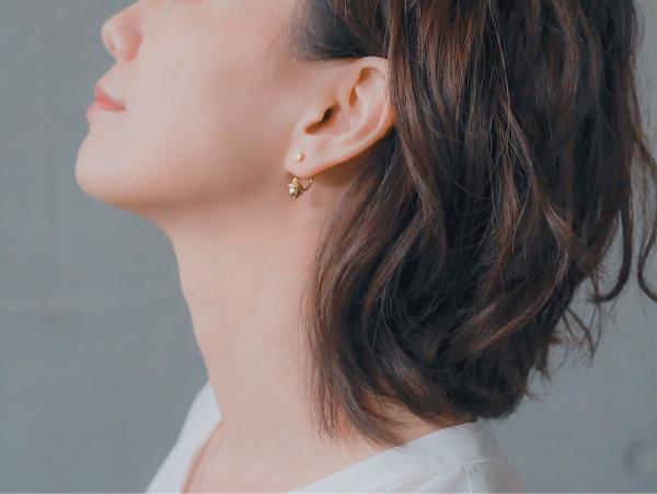Whispering acorn earrings -18K gold colour acorn earrings