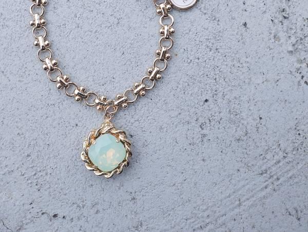 Rhombus Lady手鍊 - 七色 菱形 彩鑽 蛋白石 手鍊