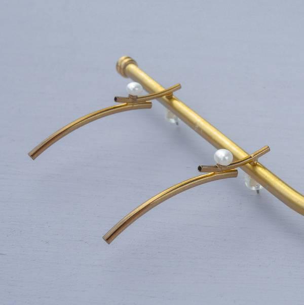 Hydromancy | 水占術系列 - 冷雨耳環 * 三色 天然淡水珍珠 迷你珍珠 變形珍珠 長耳環