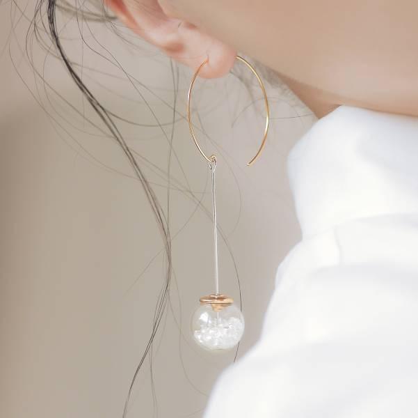 ONCE LITE   空氣系 - 夏光耳環 925純銀 幾何耳環 抗敏耳環 純銀耳環 耳環 耳釘 耳針 貼式耳環